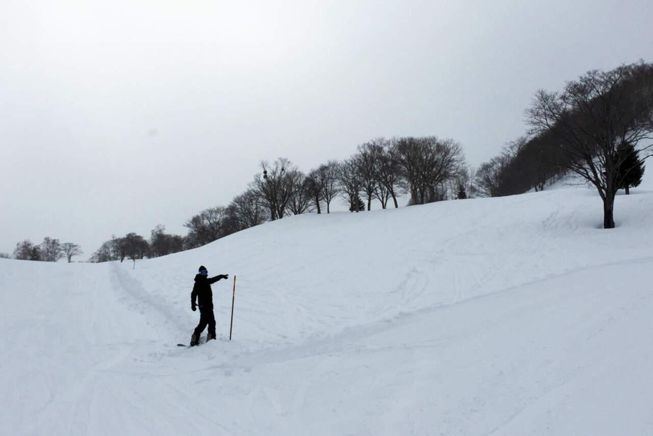 朝里川温泉スキー場 グリーンコース