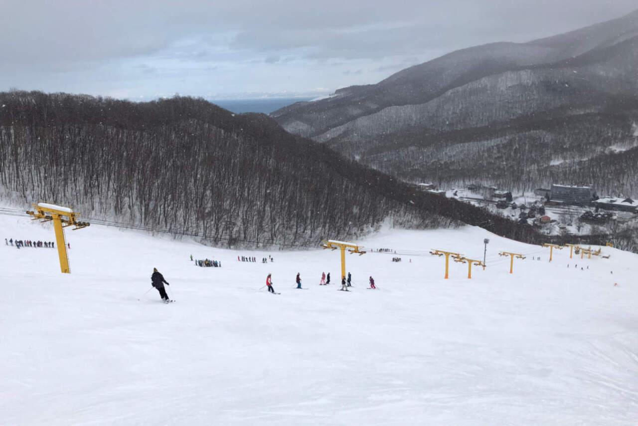 朝里川温泉スキー場 イエローコース