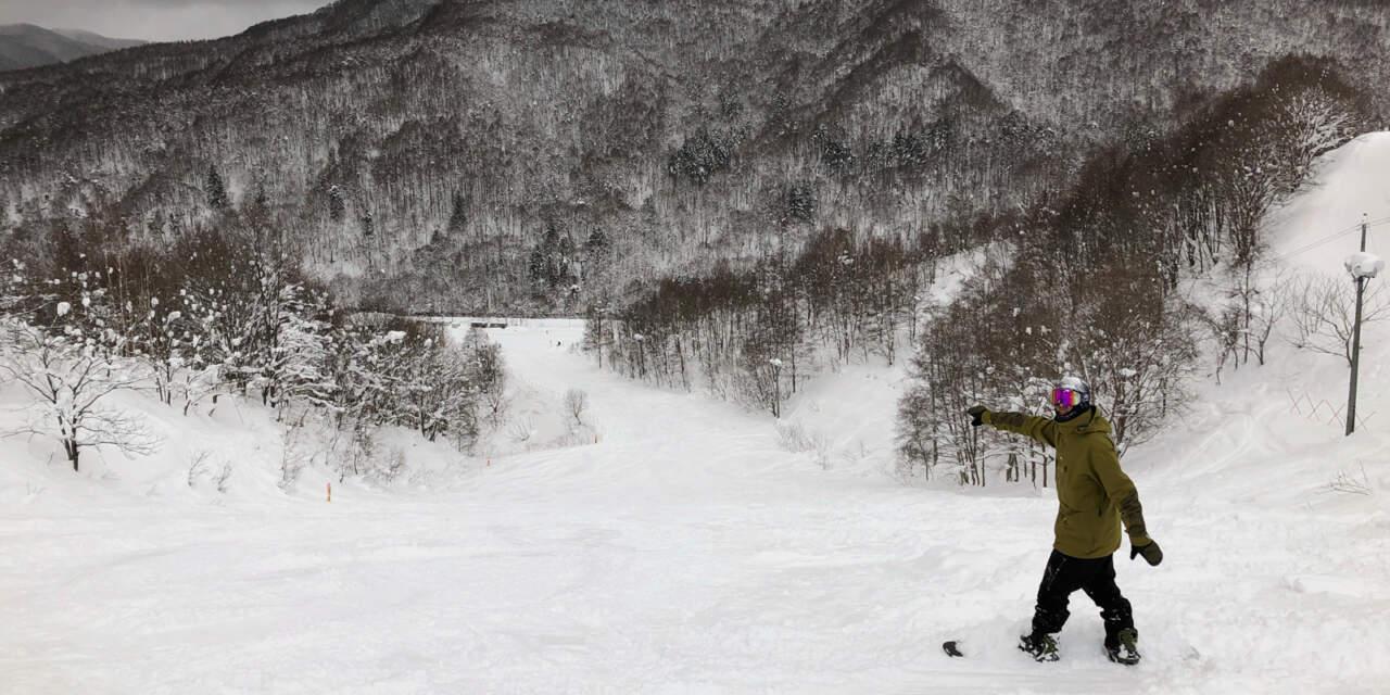 美唄国設スキー場のコース内