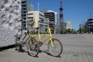 レンタル自転車で  札幌市内を散策しよう