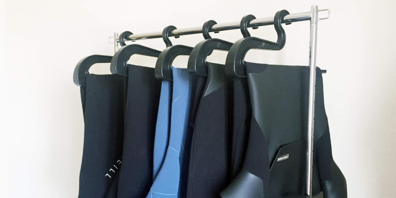 綺麗に洗ったウェットスーツ