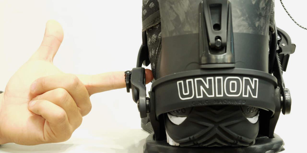 UNION BINDING ULTRAアンクルの隙間