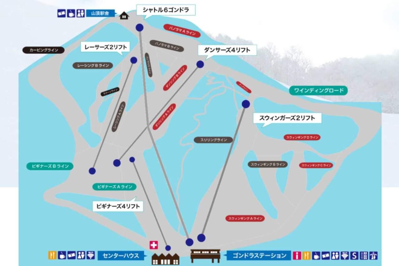 夕張マウントレースイ コースマップ
