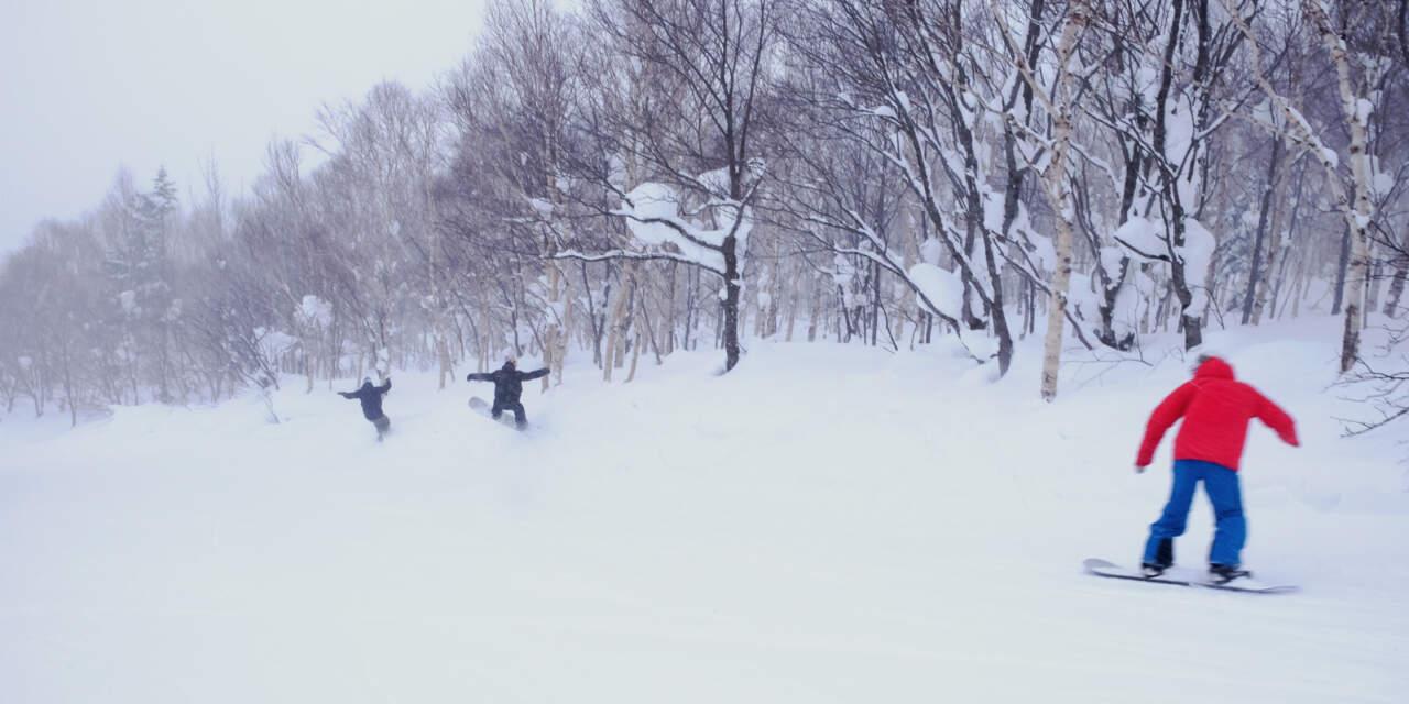 札幌国際スキー場 メルヘンコースの壁