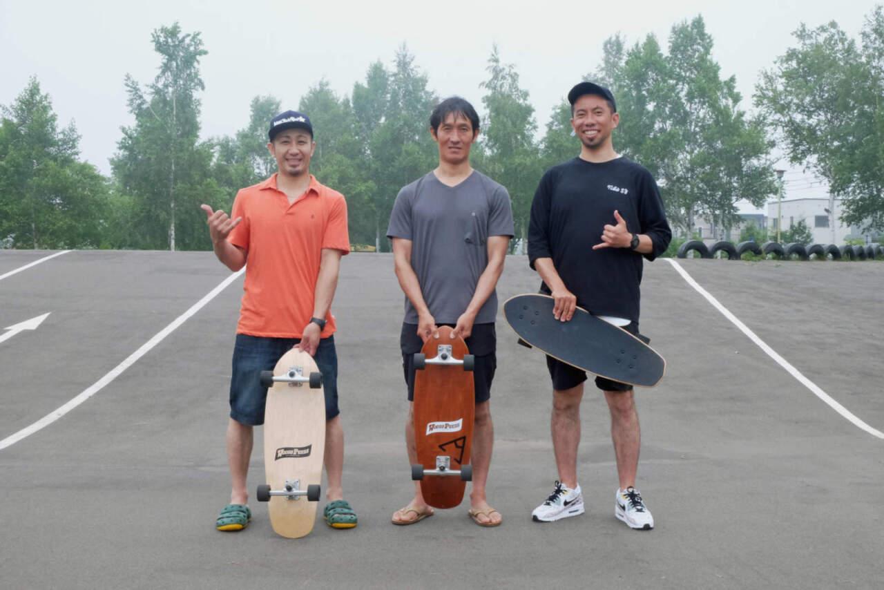 (左)菊田光司郎さん(中)田中岳宏さん(右)諸橋正太