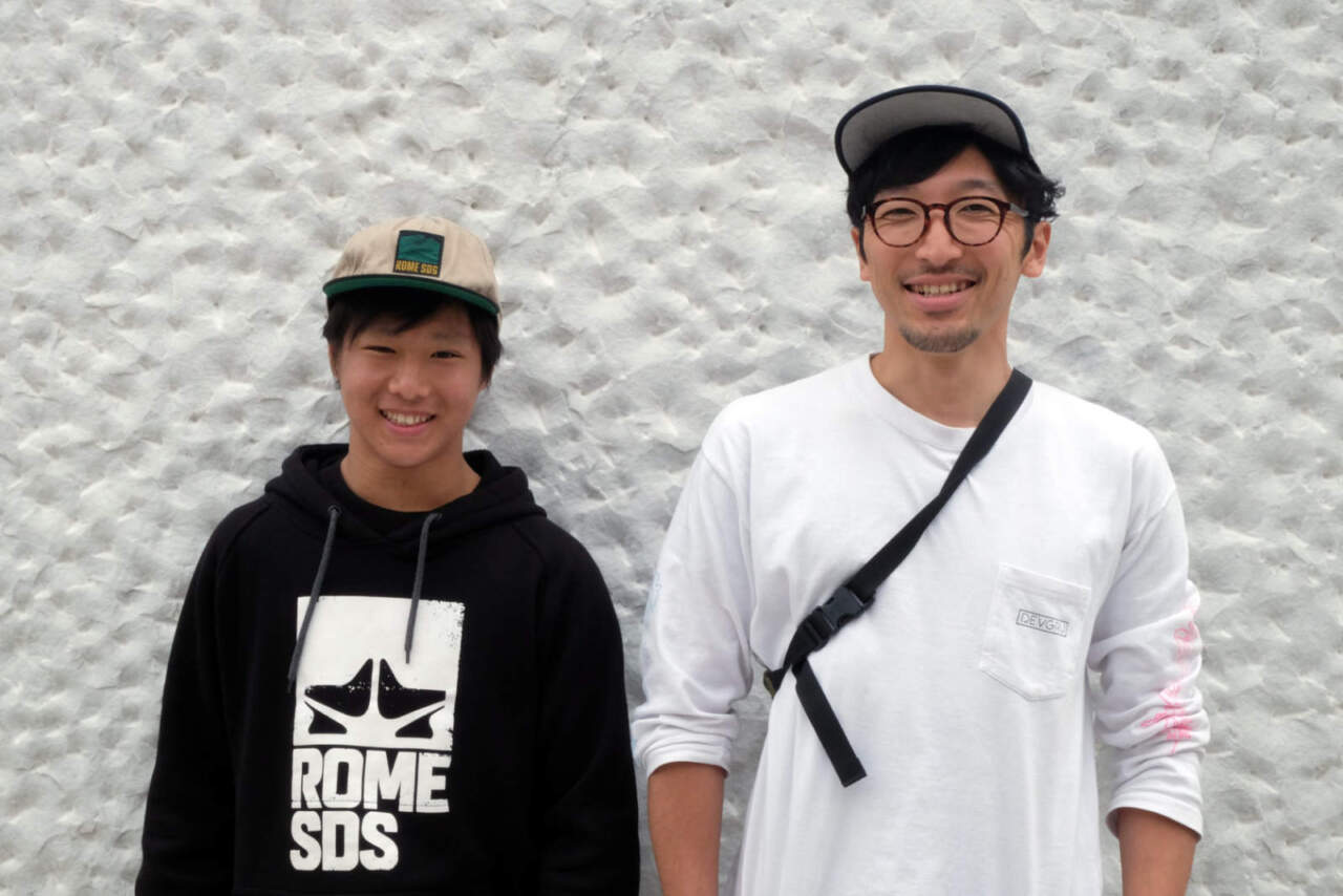(左)藤谷瞭至くん(右)コーチ赤前吉明さん
