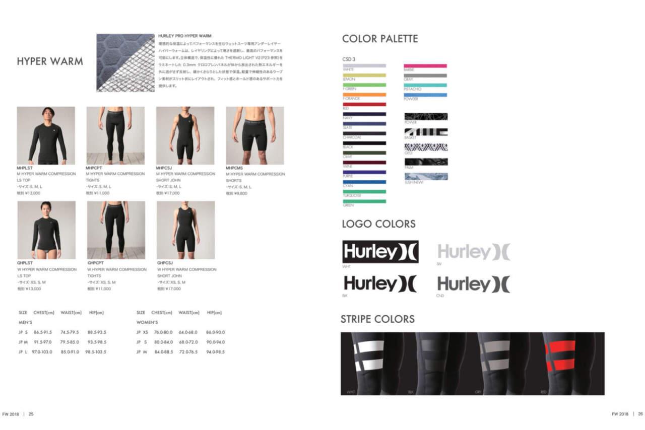 HURLEY2018カタログP25-26/HURLEY HYPER WARM