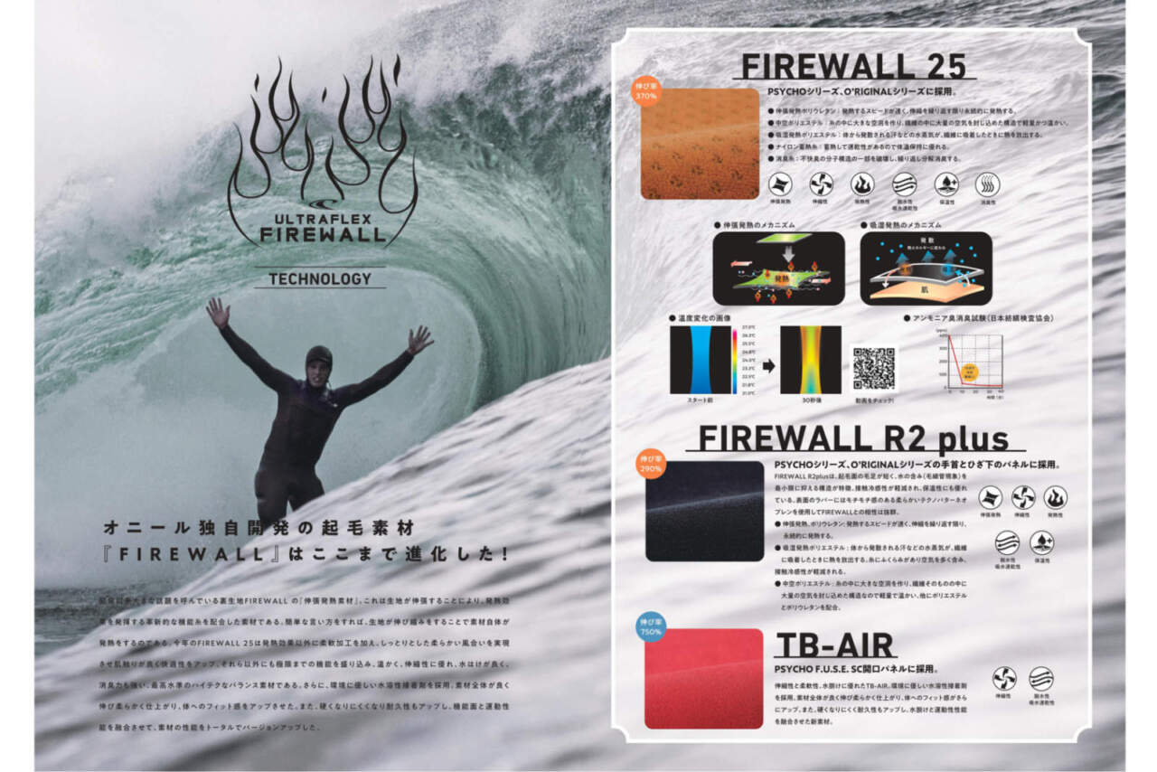 oneill 2018カタログFIRE WALL25