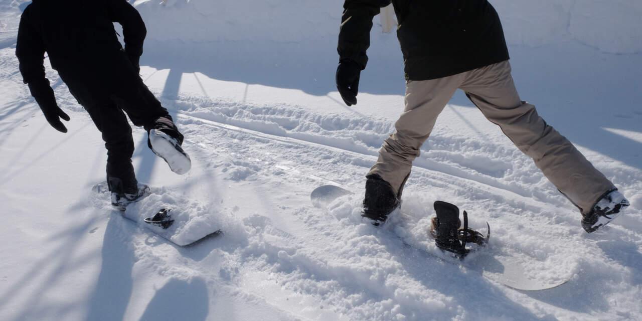 ステップオンでスノーボードレッスン