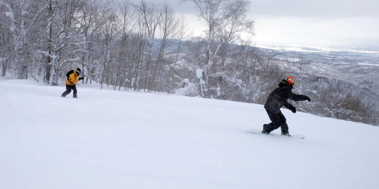 スノーボードの撮影