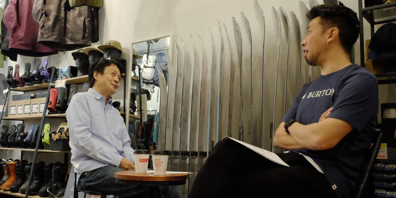 MOJANE店内でインタビュー 黒木さんと諸橋
