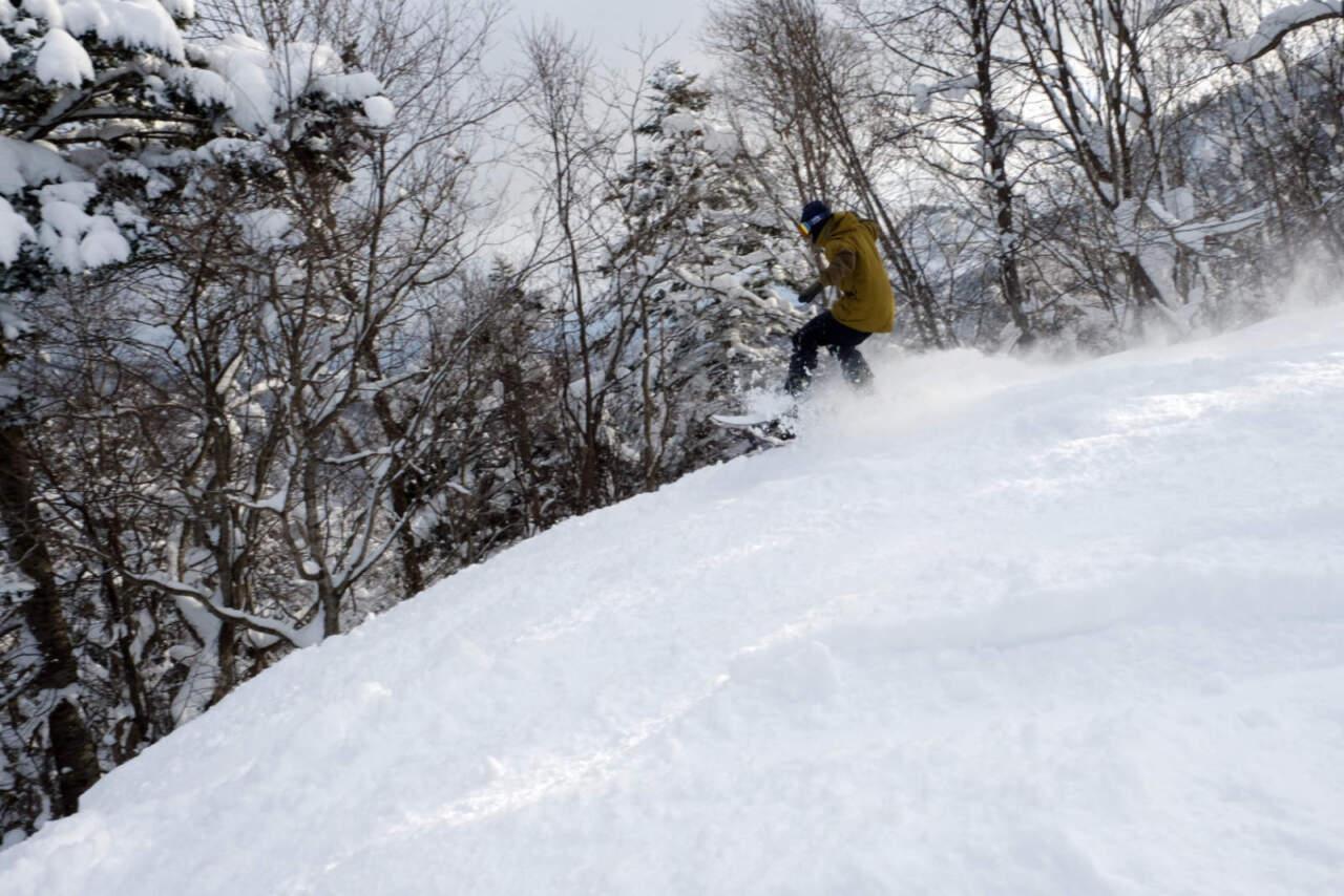桂沢国設スキー場|中・上級コース(ピンク)