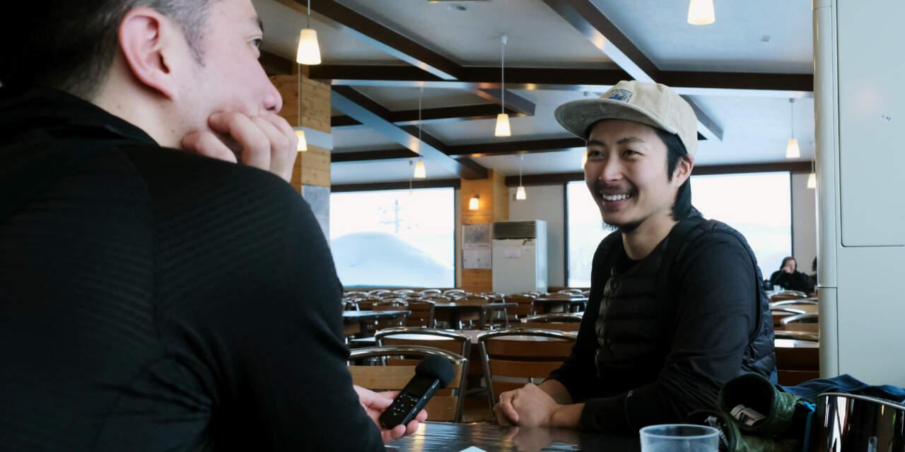 ニセコモイワレストランで岡本佑斗くんにインタビュー