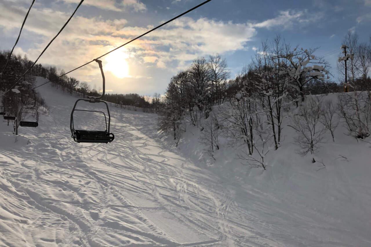 美唄国設スキー場 メインバーン