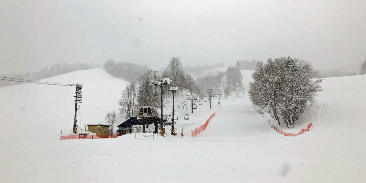 美唄国設スキー場 リフト乗り場