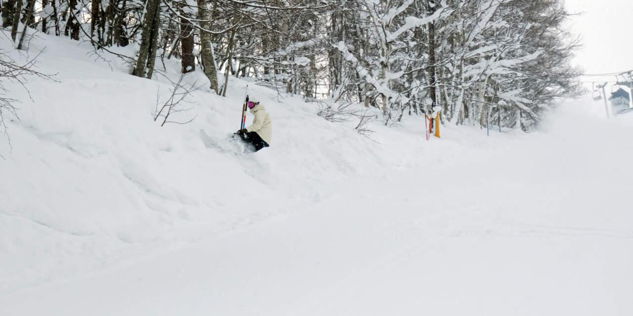 美唄国設スキー場 林間コース