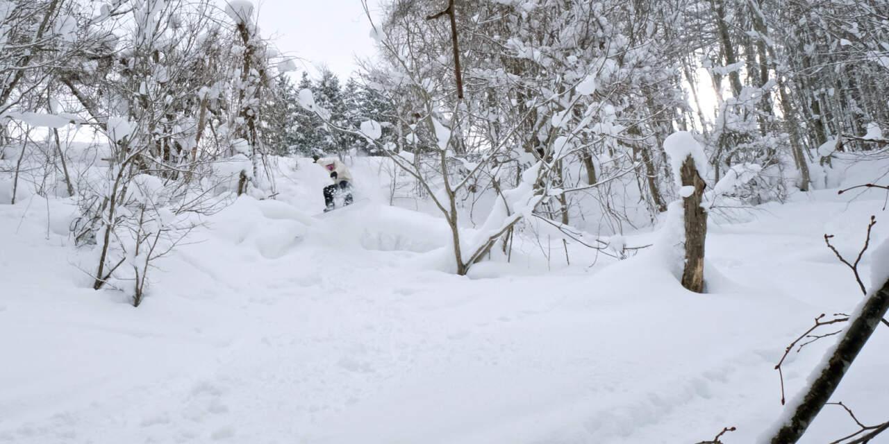 美唄国設スキー場 西コース