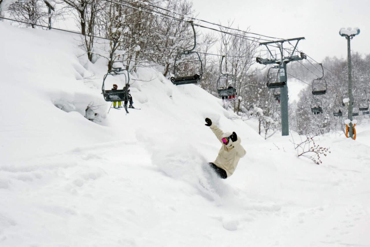 美唄国設スキー場 リフト下