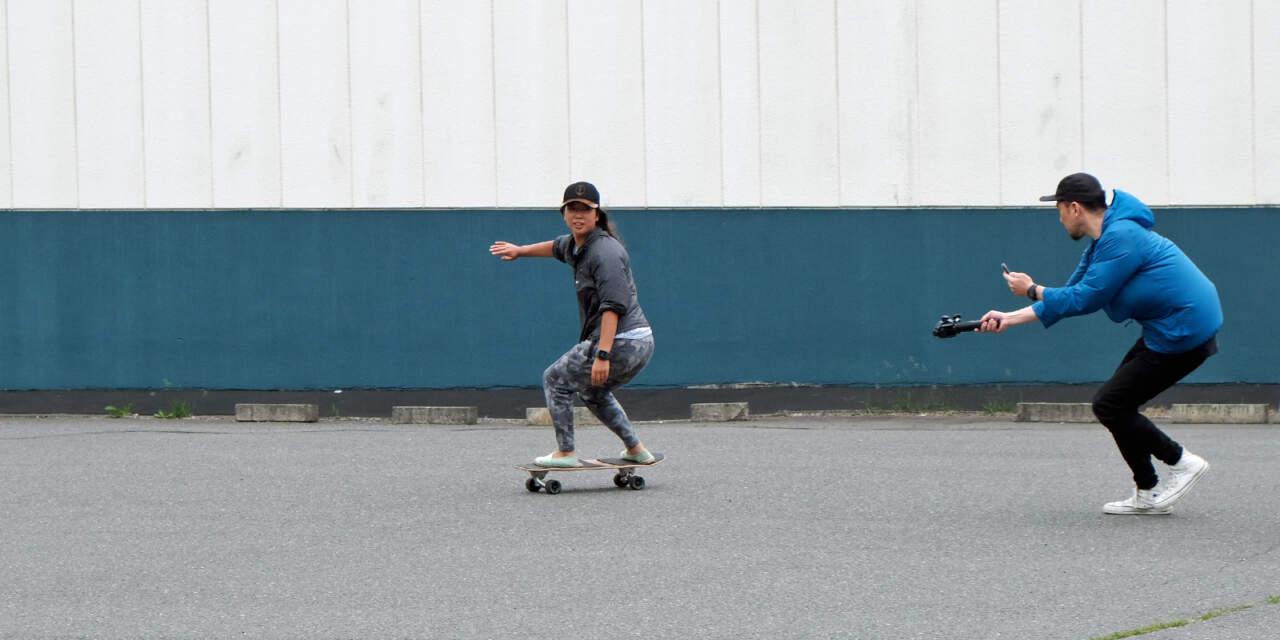 スケートでのレッスンを受けるきよみちゃん