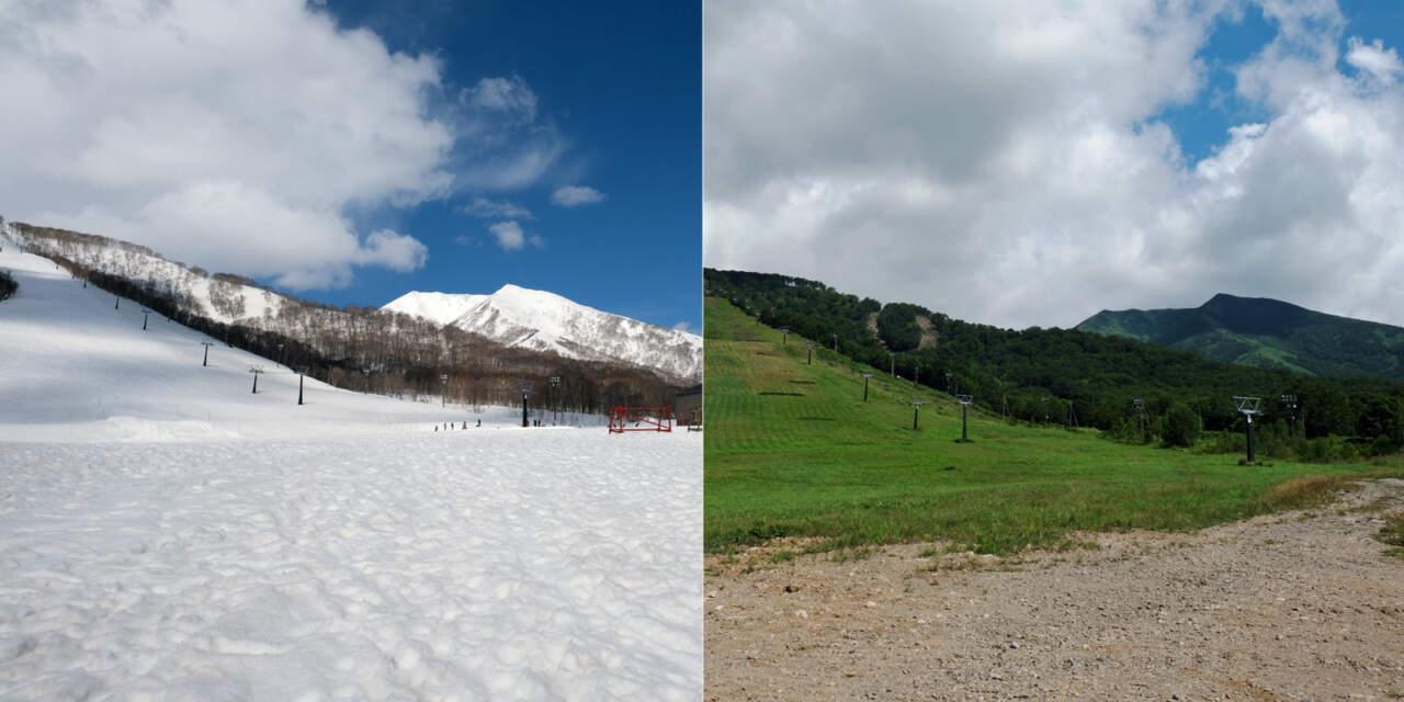 冬のモイワ、夏のモイワ