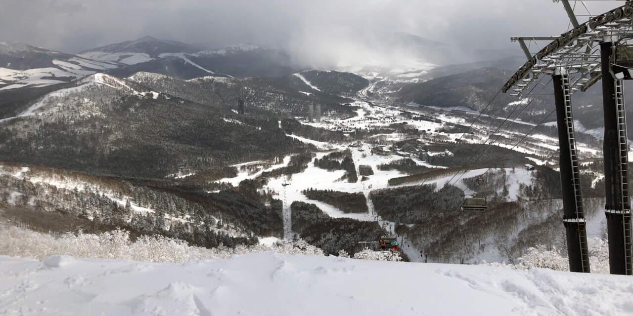 トマムマウンテン山頂からの眺め