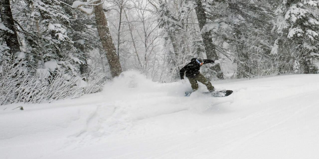 BURTON SL-XとSKIPJACKで黒岳を滑る