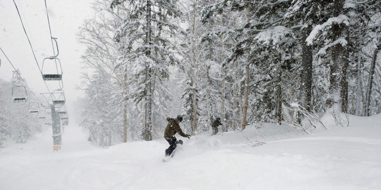 黒岳スキー場の午後