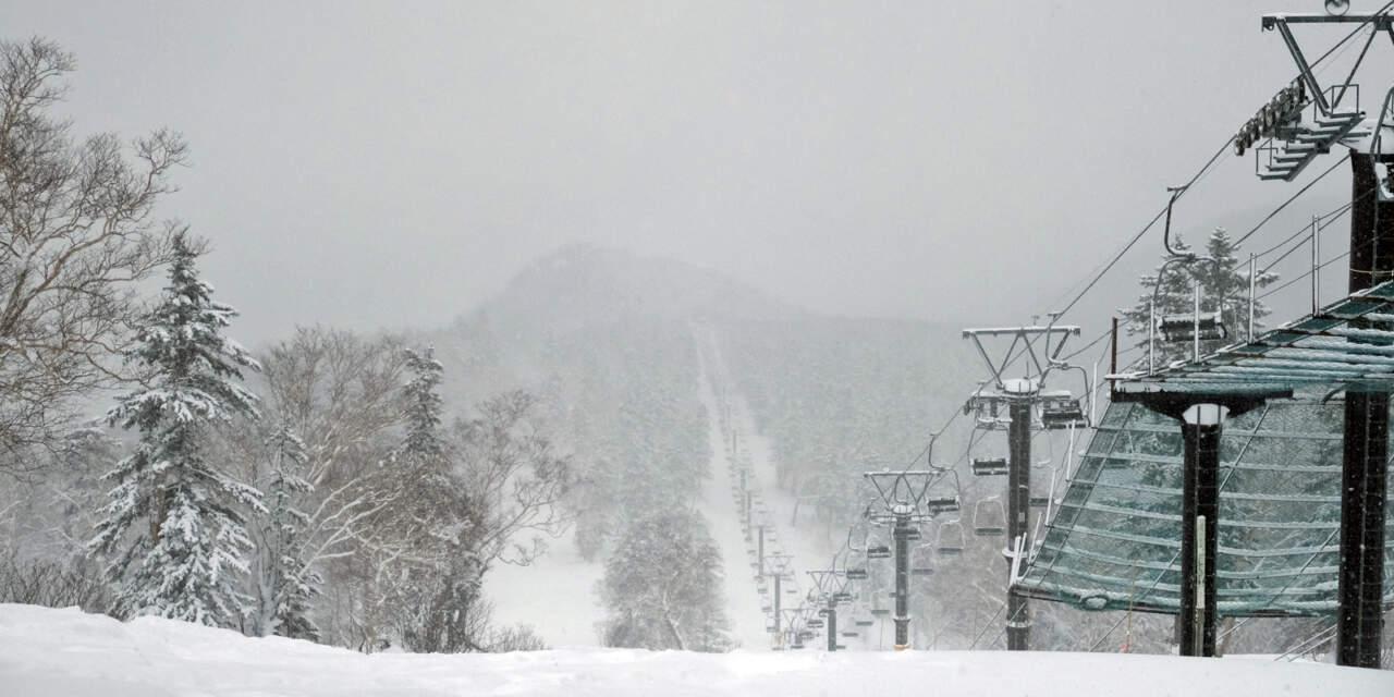 黒岳スキー場リフト山頂からの眺め