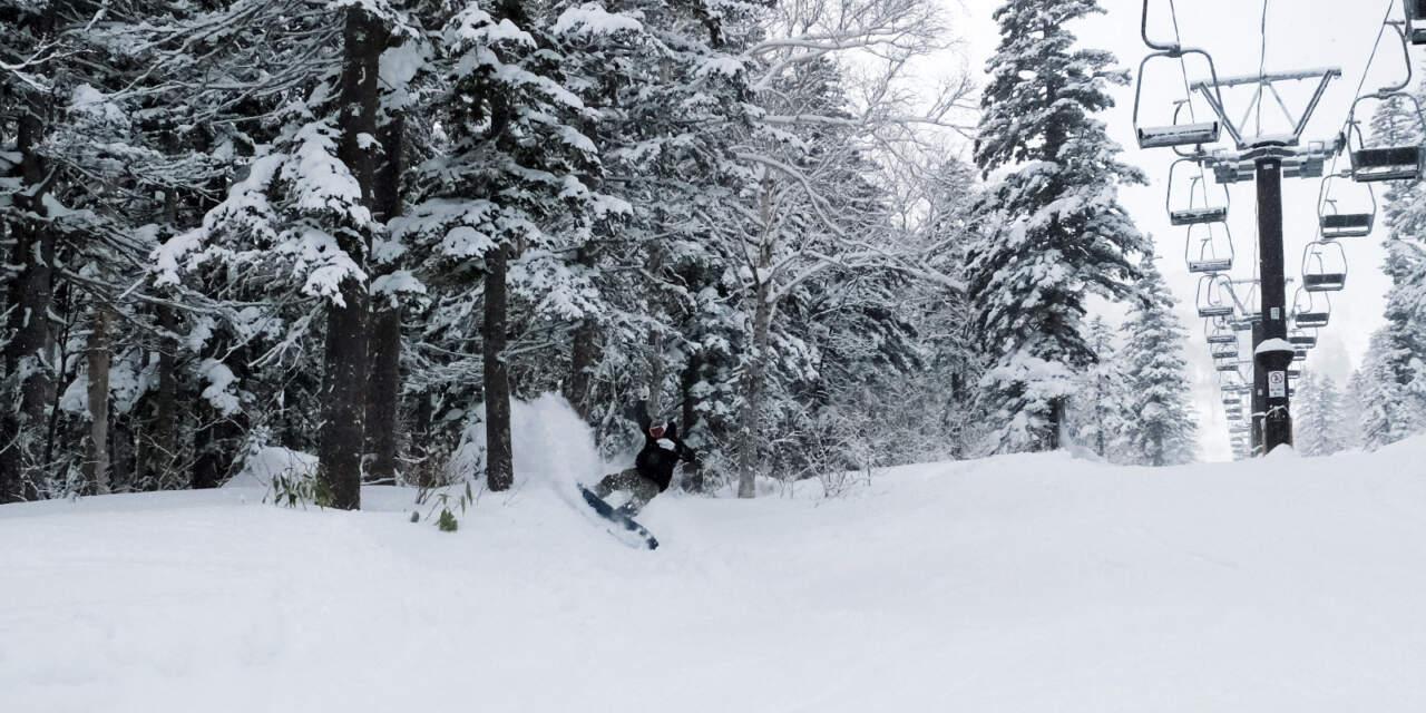 黒岳スキー場リフト下コースの画像