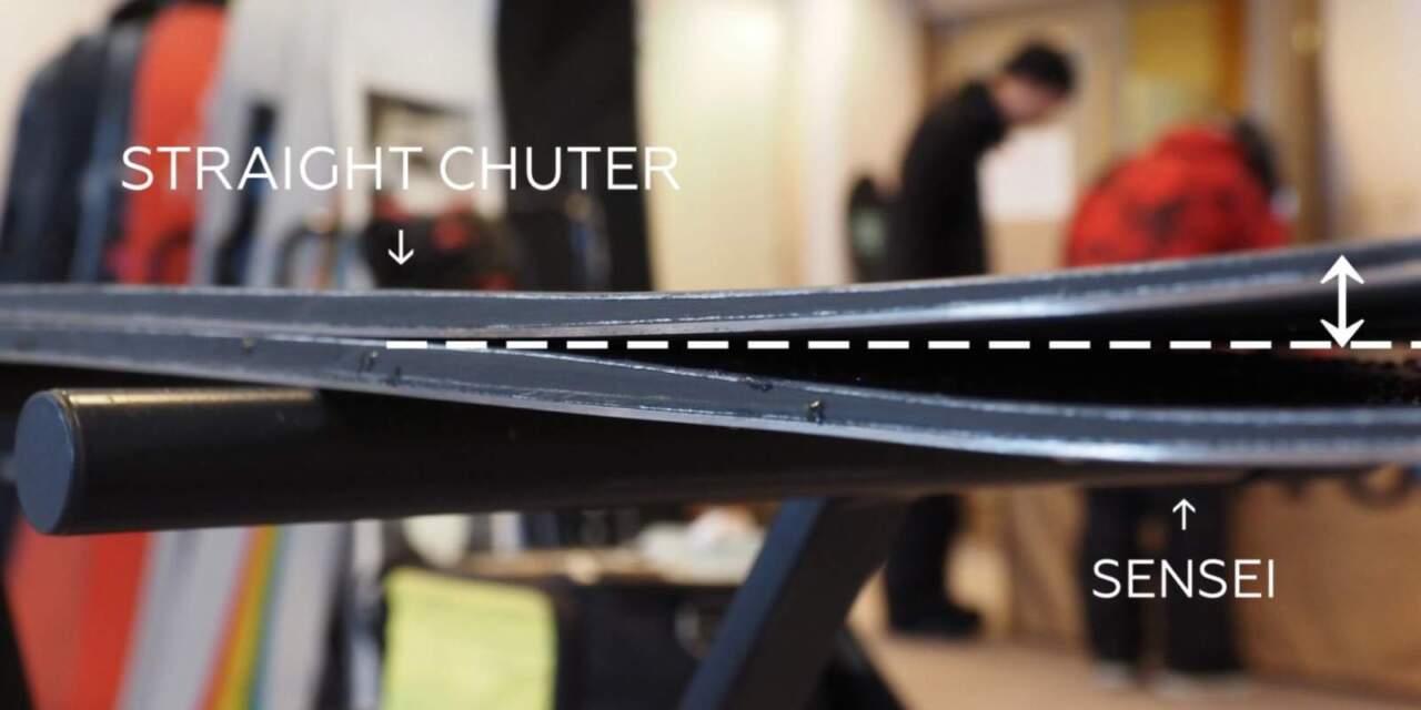 STRAIGHT CHUTERとSENSEIのノーズロッカー比較