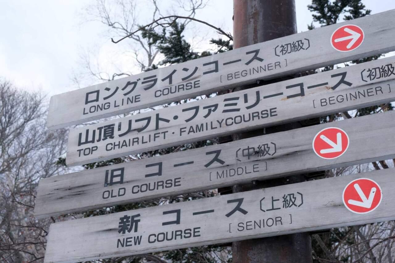 小樽 天狗山のコース案内板