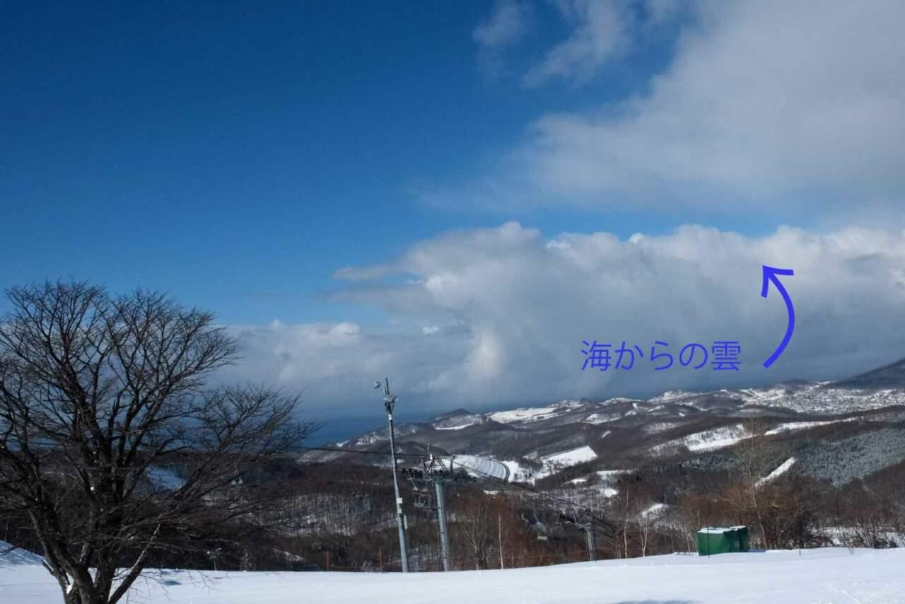 天狗山の雲の動き