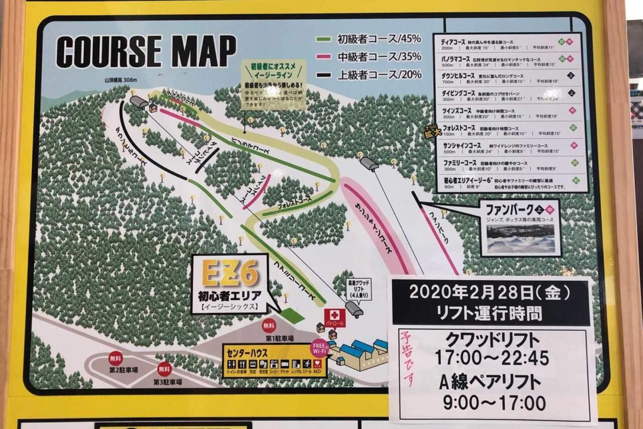 オーンズ コースマップ