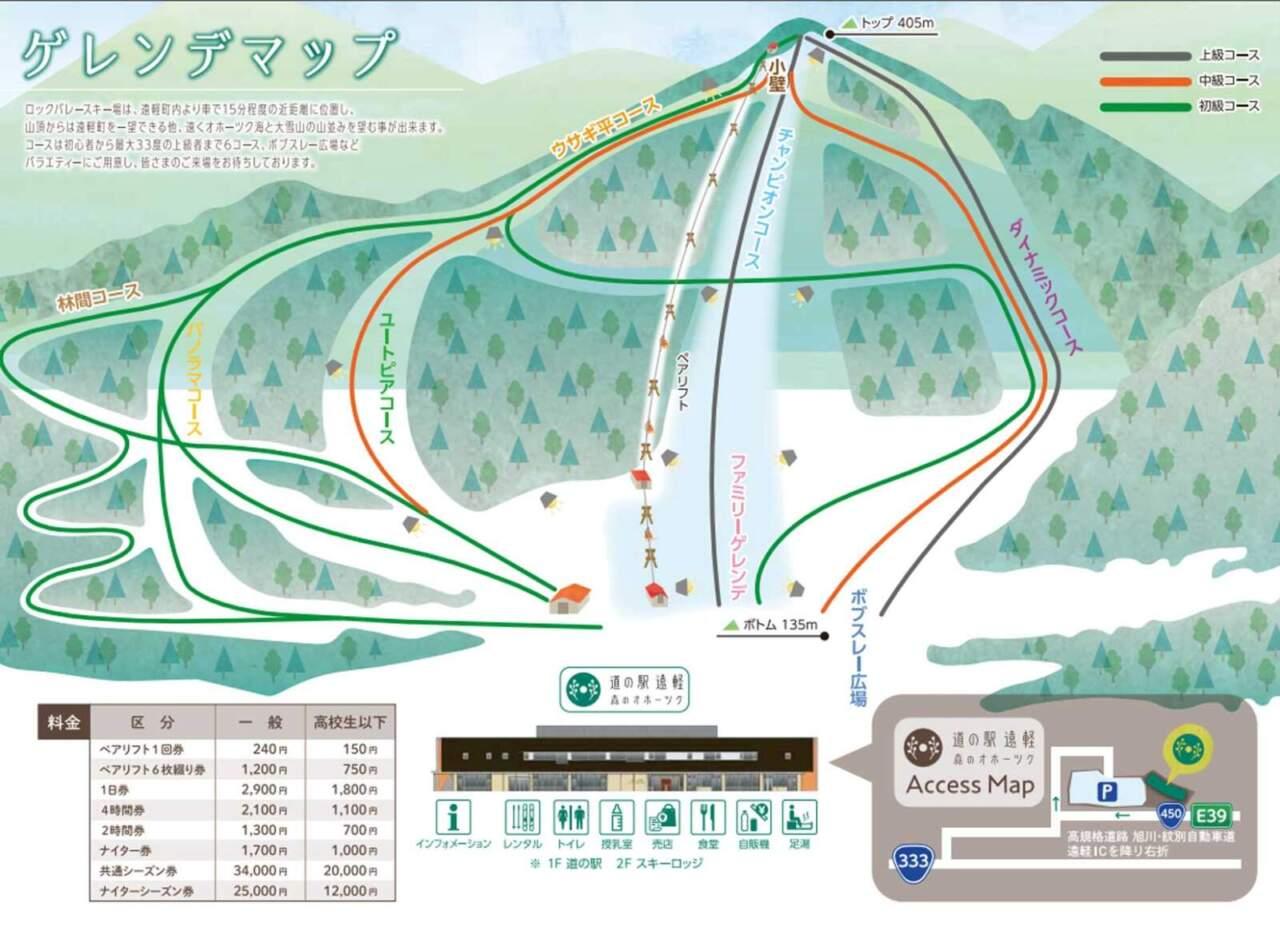 えんがるロックバレー/コースマップ