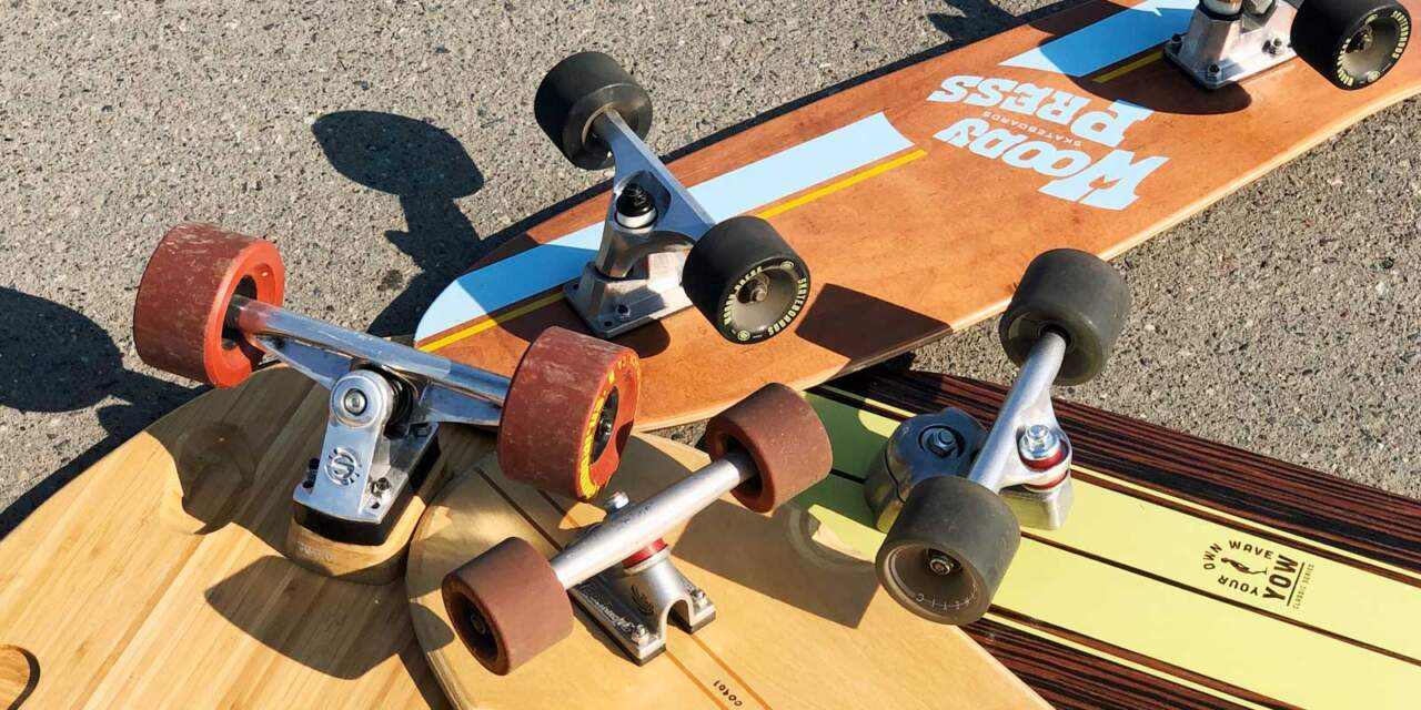 サーフスケートの色々なトラック